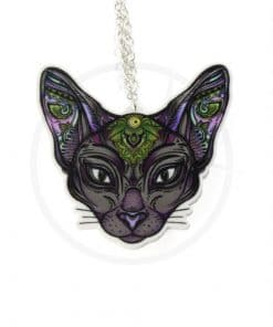 Collana Sphynx Mystic Silver Cat | Color-Mania