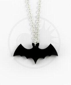 Collana in argento con pipistrello nero | Color-Mania