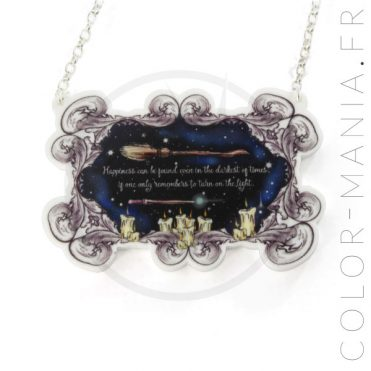 Collier Harry Potter Citation Happiness | Color-Mania