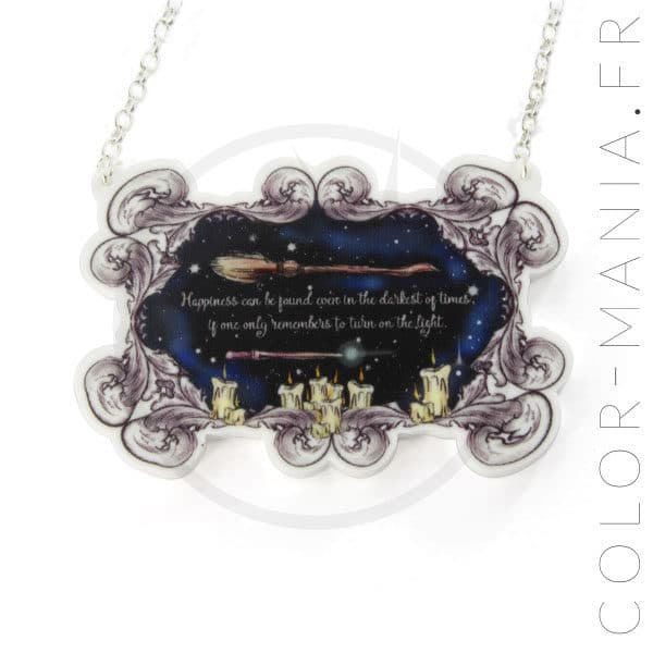 Collier Harry Potter Citation Happiness   Color-Mania