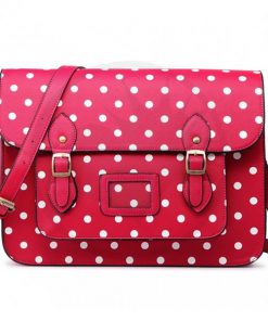 Sac Cartable Satchel Rose à Pois | Color-Mania
