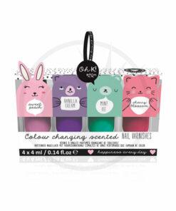 Kit de barniz mágico perfumado 4 Oh K   Color-Mania