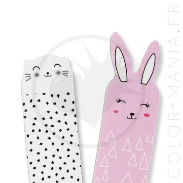 Limes à Ongles Chat Blanc Lapin Rose Oh K | Color-Mania
