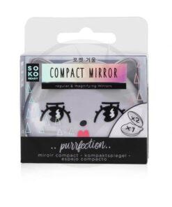 Miroir compact chat kawaï