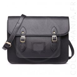 Sac Cartable Satchel Noir | Color-Mania