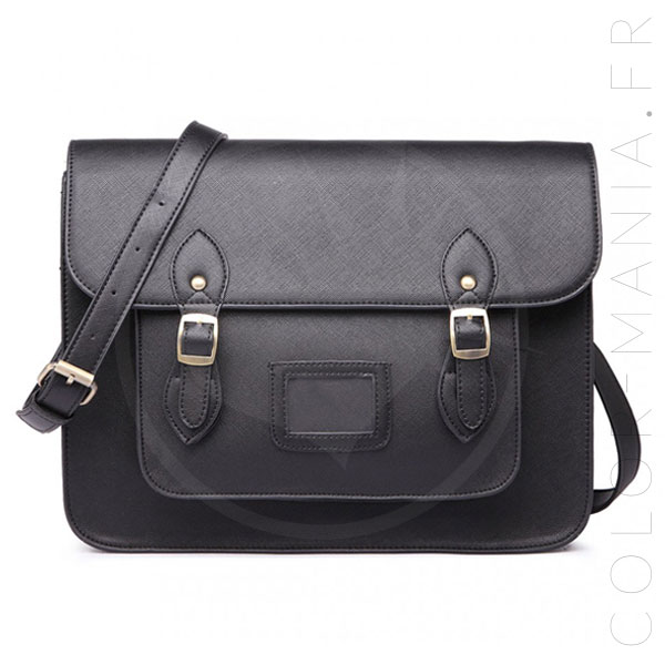 Bolso Satchel Satchel Negro | Color-Mania