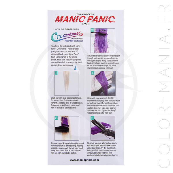 uancier Colorations Creamtones Manic Panic | Color-Mania