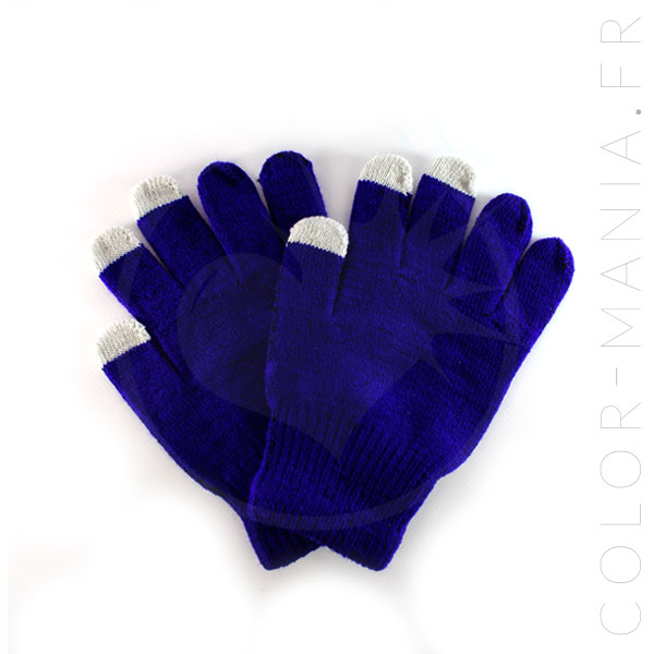 Gants Tactiles Bleu Royal | Color-Mania