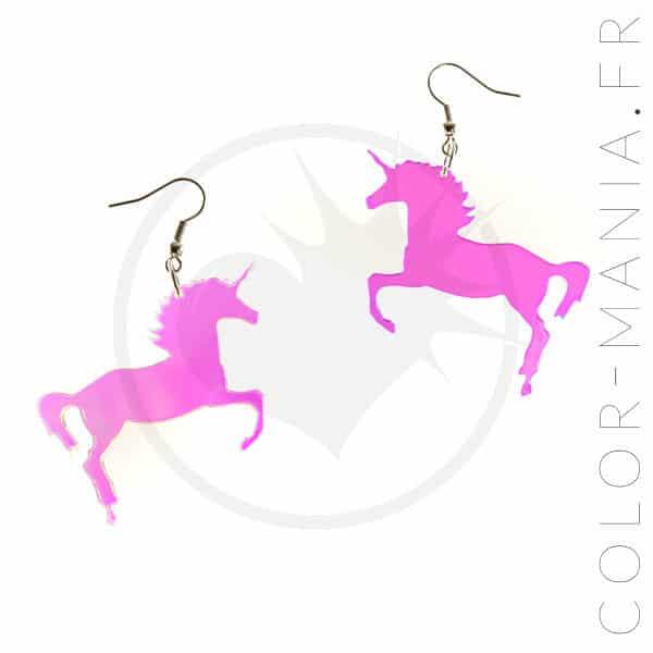 Pendientes de unicornio iridiscentes transparentes | Color-Mania
