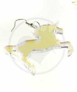 Boucles d'Oreilles Licornes Transparent Irisé   Color-Mania