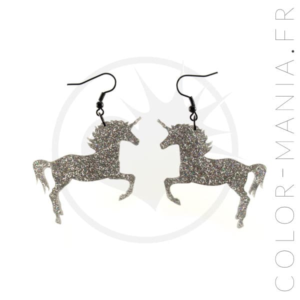 Glitter Unicorn Pendientes | Color-Mania