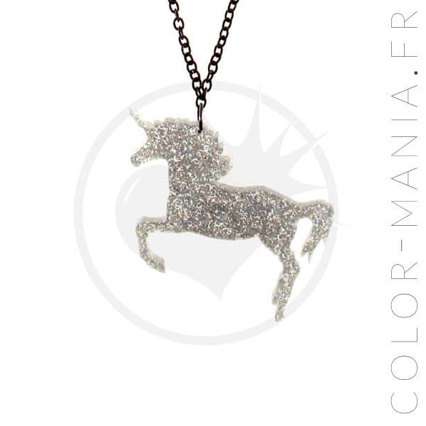 Collier Licorne Paillettes | Color-Mania