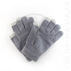 Gants Tactiles Gris Clair | Color-Mania
