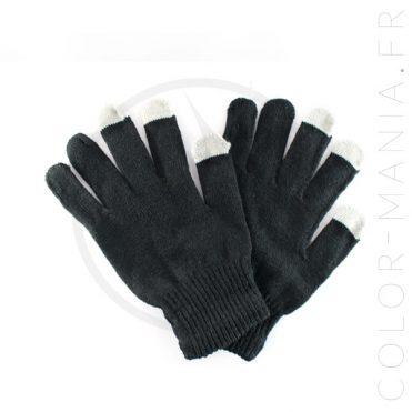 Gants Tactiles Noirs   Color-Mania