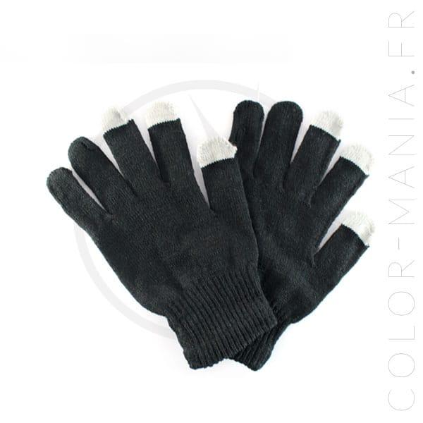 Gants Tactiles Noirs | Color-Mania