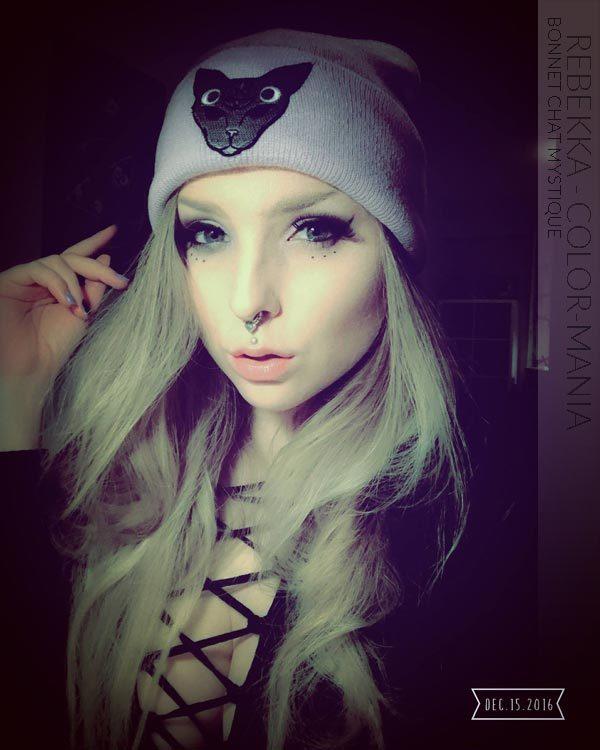 Gracias Rebekka! Grey Mystic Cat Lilac Hat
