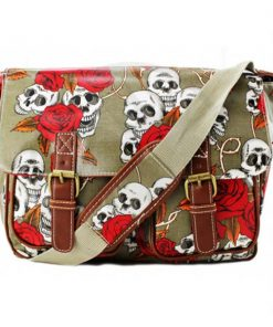Cambridge Printed Roses and Skull Bag | Color-Mania