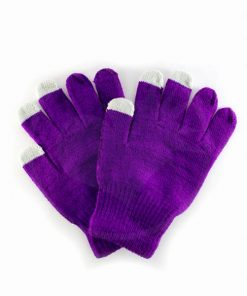 Guanti Touch Purple scuro | Color-Mania