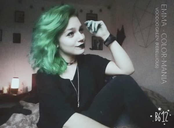 Merci Emma :) Coloration Cheveux Vert Voodoo Green - Rebellious | Color-Mania