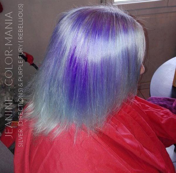 Merci Jeanine :) Coloration Cheveux Violet Purple Fury - Rebellious | Color-Mania