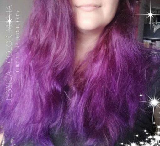 Merci Jessica :) Coloration Cheveux Violet Purple Fury - Rebellious | Color-Mania