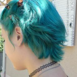 Gracias Louison :) Enchanted Forest Green Hair Coloring - Rebelde | Color-Mania