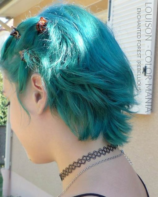 Merci Louison :) Coloration Cheveux Vert Enchanted Forest - Rebellious | Color-Mania