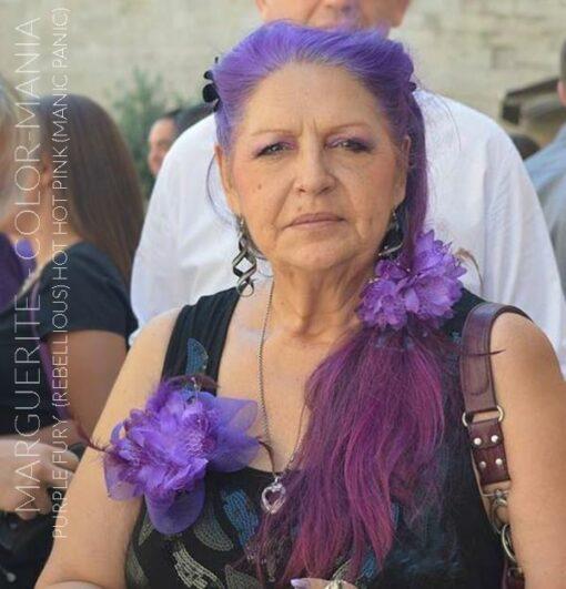 Merci Marguerite :) Coloration Cheveux Rose Hot Hot Pink UV - Manic Panic et Purple Fury - Rebellious | Color-Mania