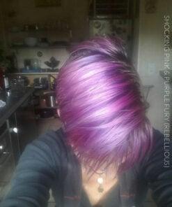 Merci Pat Attrack :) Coloration Cheveux Shocking Pink et Purple Fury - Rebellious | Color-Mania