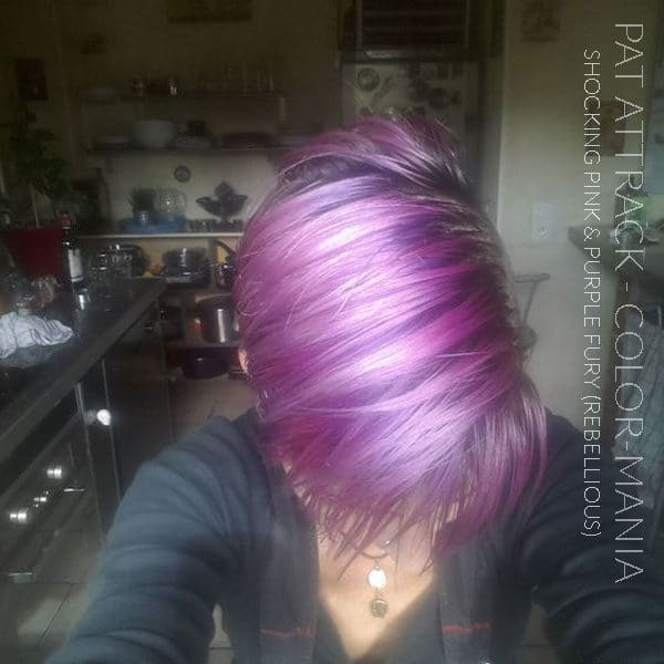 Merci Pat Attrack :) Coloration Cheveux Shocking Pink et Purple Fury - Rebellious | Color-Mania