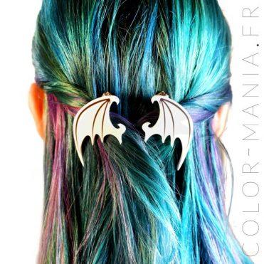 Barrettes Ailes de Dragon Blanches | Color-Mania