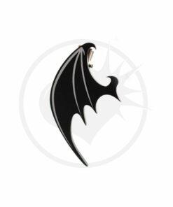 Black Dragon Wing Barrettes | Color-Mania