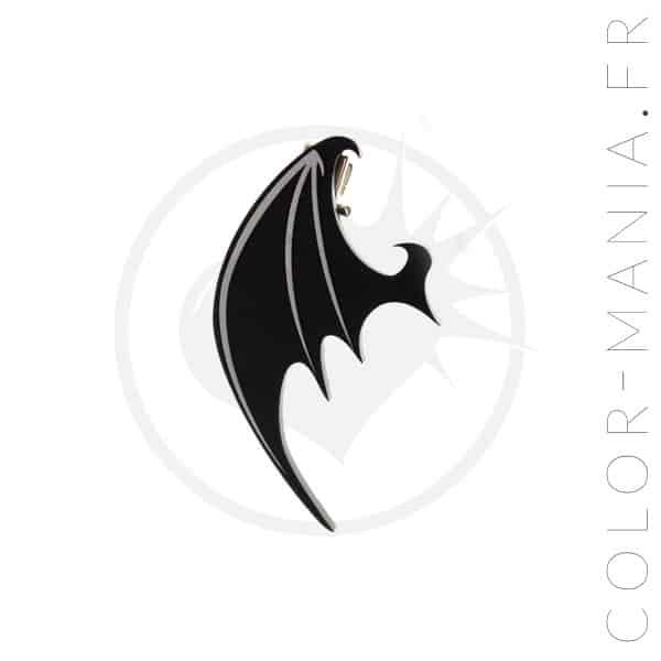 Barrettes Ailes de Dragon Noires | Color-Mania