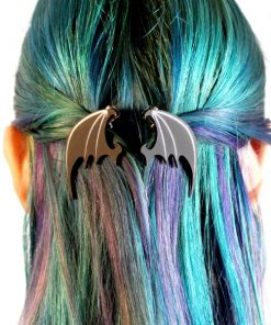 Barrettes Ailes de Dragon Noires | Color-Mania