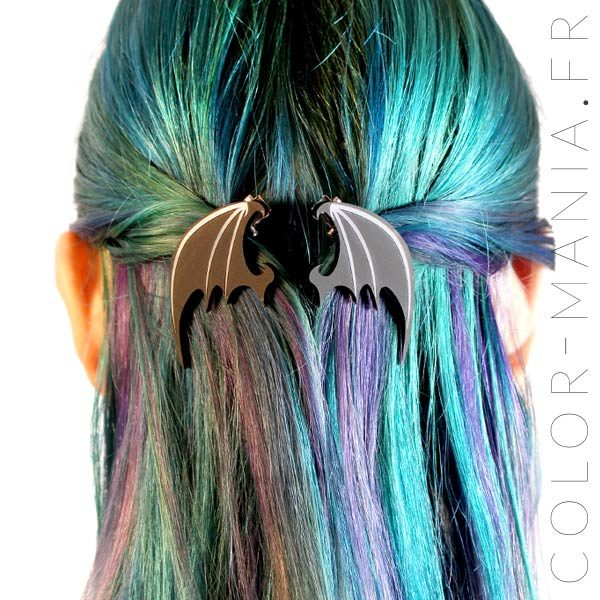 Barrette ala nera del drago | Color-Mania