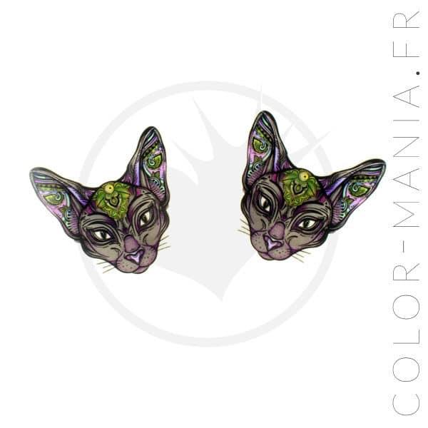 Barrette a testa di gatto mistico | Color-Mania