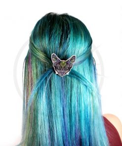 Mystic Cat Head Barrettes | Color-Mania