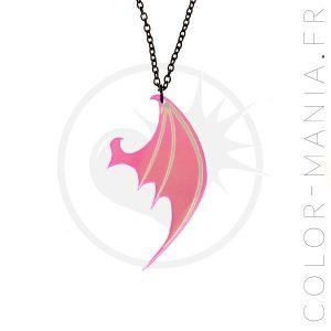Collar iridiscente del ala del dragón transparente | Color-Mania