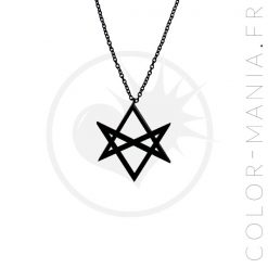 Collier Hexagramme Noir Curiology | Color-Mania