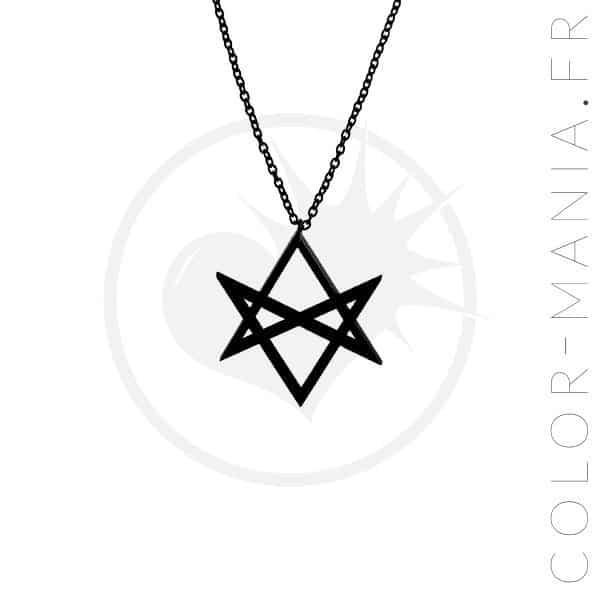 Hexagram Black Curiology Necklace | Color-Mania