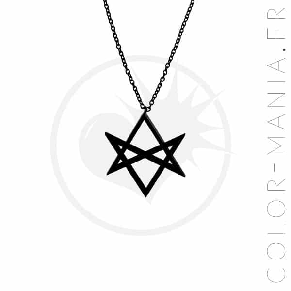 Hexagram Black Curiology Necklace | Color-Mania