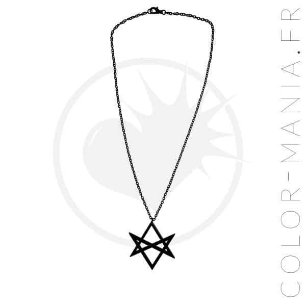 Collier Hexagramme Noir Curiology | Color-Mania