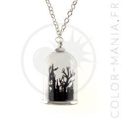 Collier Globe Mausolée Noir | Color-Mania
