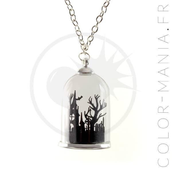 Collier Globe Mausolée Noir   Color-Mania