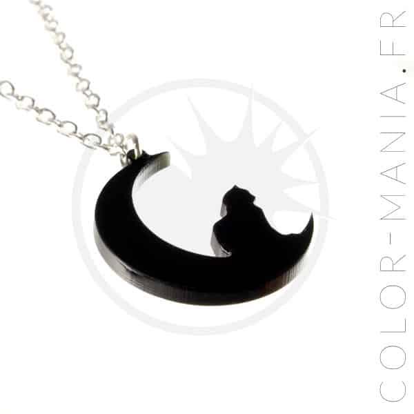 Collar negro del gato de la luna creciente | Color-Mania