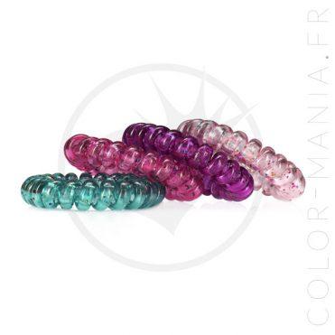 4 Élastiques Spirale Anti-Casse des Cheveux | Color-Mania