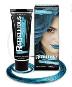 Cor do cabelo Blue Blue Lagoon - Rebelde | Cor-Mania