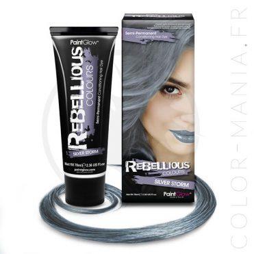 Coloration Cheveux Toner Gris Silver Storm - Rebellious   Color-Mania