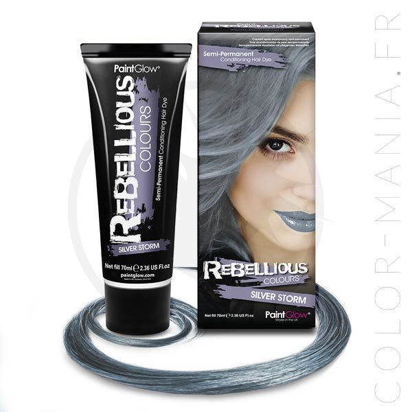 Coloration Cheveux Toner Gris Silver Storm - Rebellious | Color-Mania
