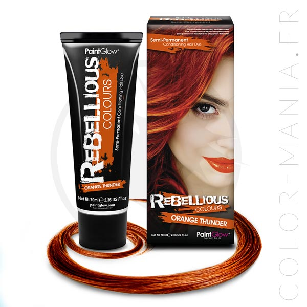 Coloration Cheveux Orange Thunder - Rebellious | Color-Mania